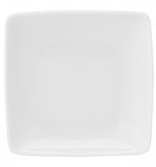 Тарелка десертная квадратная Carre White, 21х21см