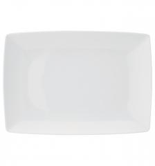 Блюдо прямоугольное большое Carre White, 27х19см