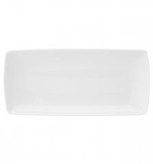 Тарелка прямоугольная/блюдце Carre White, 19х9см