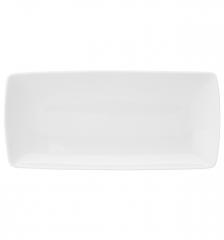 Блюдо прямоугольное большое Carre White, 38х28см