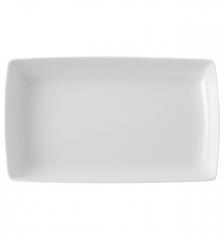 Блюдо прямоугольное маленькое Carre White, 21х12см
