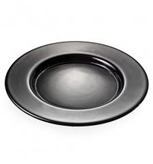 Блюдо стеклянное черное Bicos, 33см