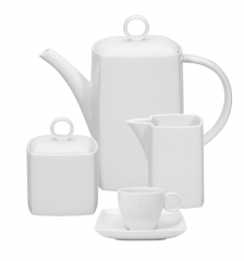 Набор кофейный Carre White (15 предметов)