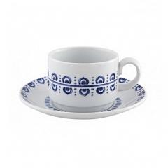 Набор чашка чайная с блюдцем Azure, 220мл
