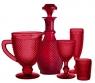 Набор красных бокалов для шампанского, Bicos
