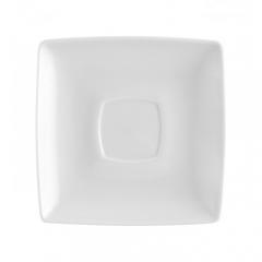 Блюдце под кофейную чашку Carre White, 14х14см