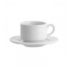 Набор чашка кофейная (130 мл) с блюдцем, Perla