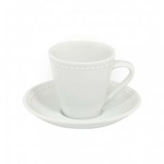 Набор чашка кофейная (90мл) с блюдцем, Perla