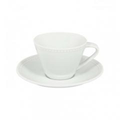 Набор чашка чайная (210мл) с блюдцем, Perla
