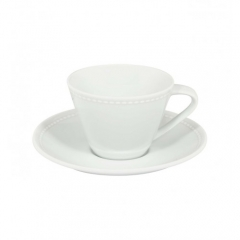Набор чашка кофейная (130мл) с блюдцем, Perla