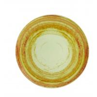 Тарелка круглая столовая зеленая MANDARIN, 28 см