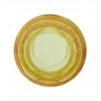 Тарелка круглая десертная зеленая MANDARIN, 22 см
