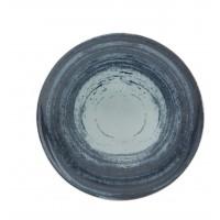 Тарелка круглая столовая серая MANDARIN, 28 см