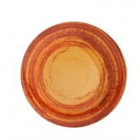 Тарелка столовая круглая оранжевая MANDARIN, 28 см
