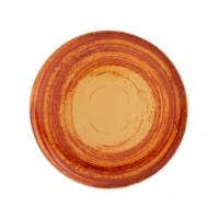 Тарелка круглая десертная оранжевая MANDARIN, 22 см