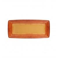 Блюдо прямоугольное для багету MANDARIN, 32см, оранжевое