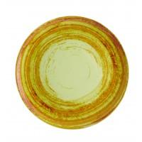 Тарелка круглая столовая зеленая MANDARIN, 25 см