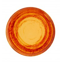 Тарелка круглая столовая оранжевая MANDARIN, 25 см