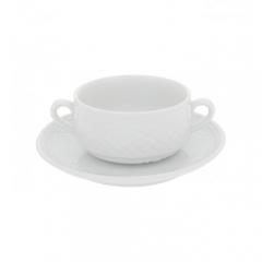 Набор чашка суповая с блюдцем Escorial, 270мл