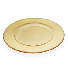 Блюдо стеклянное янтарное Bicos, 33см