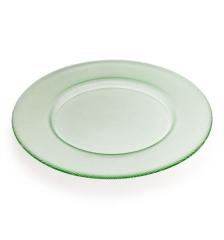 Блюдо стеклянное зеленое Bicos, 33см
