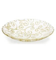 Блюдо глубокое золотое Enlace, 35см