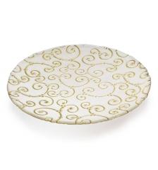 Блюдо мелкое золотое Enlace, 38см