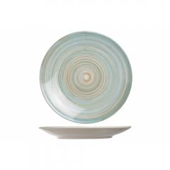 Тарелка десертная 22 см голубая, Turbolino
