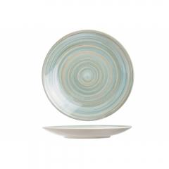 Тарелка столовая 27 см голубая, Turbolino