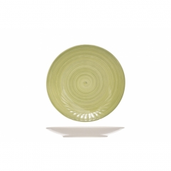 Тарелка десертная 22 см зеленая, Turbolino
