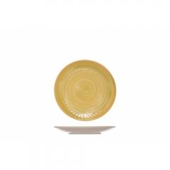Тарелка десертная 22 см желтая, Turbolino