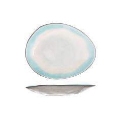 Тарелка столовая овальная  27,5*23 см, Malibu