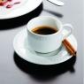 Набор чашка кофейная (100мл) с блюдцем, Perla