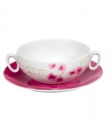 Чашка суповая с блюдцем ARIGATO, 388 мл